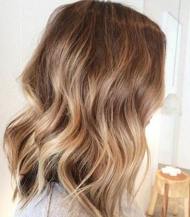 Balayage Caramel Sur Cheveux Châtain Clair