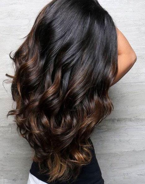 Balayage Caramel Sur Cheveux Noirs