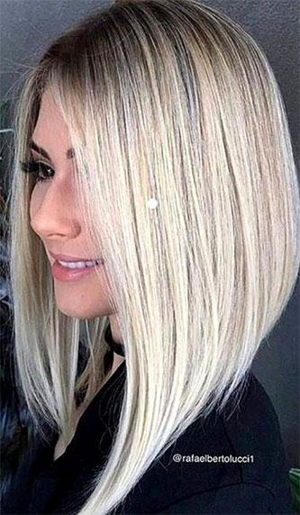 Carré plongeant Long Blond