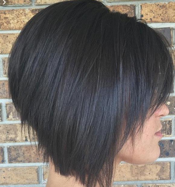 Carré Plongeant Cheveux Raides