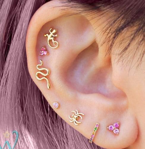Piercings Fantaisies à l'oreille