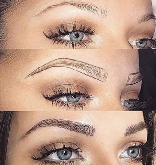 Redessiner sourcils microblading