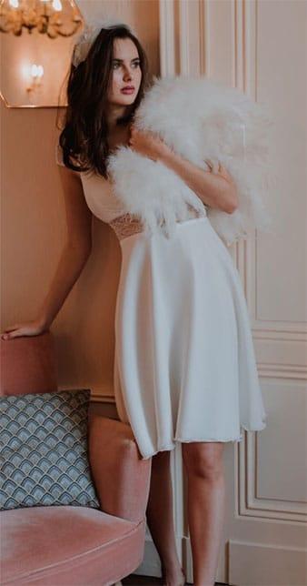 Robe Mariée courte Classique
