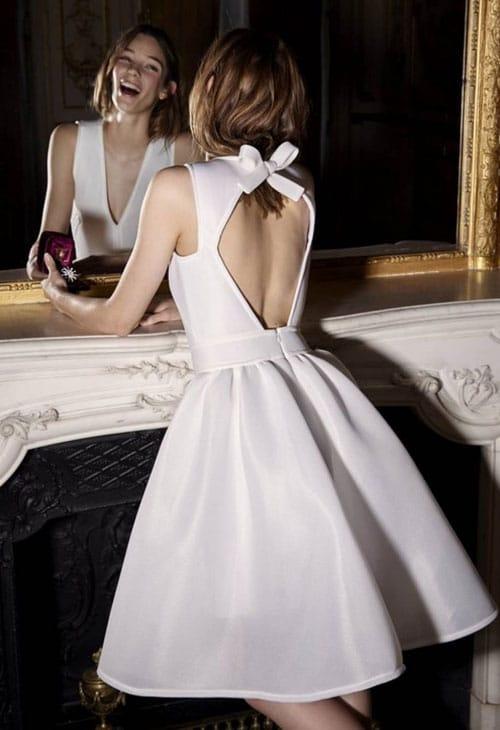 Robe de mariée courte Stylée