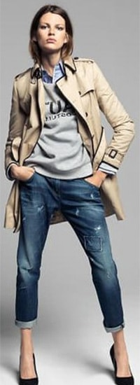 joli Trench style casual