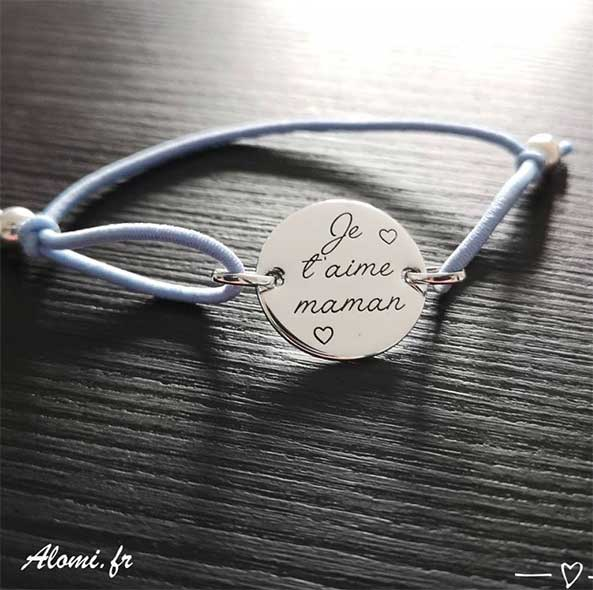 Bracelet Grave Je Taime Maman