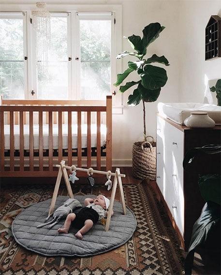 Chambre mixte bébé style Rétro