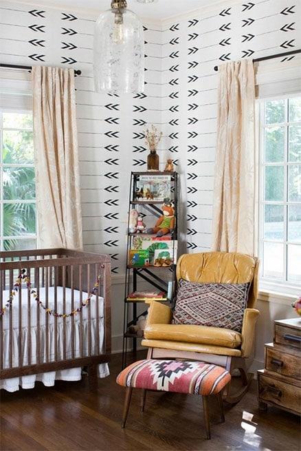 Chambre bébé mixte avec une deco Rétro
