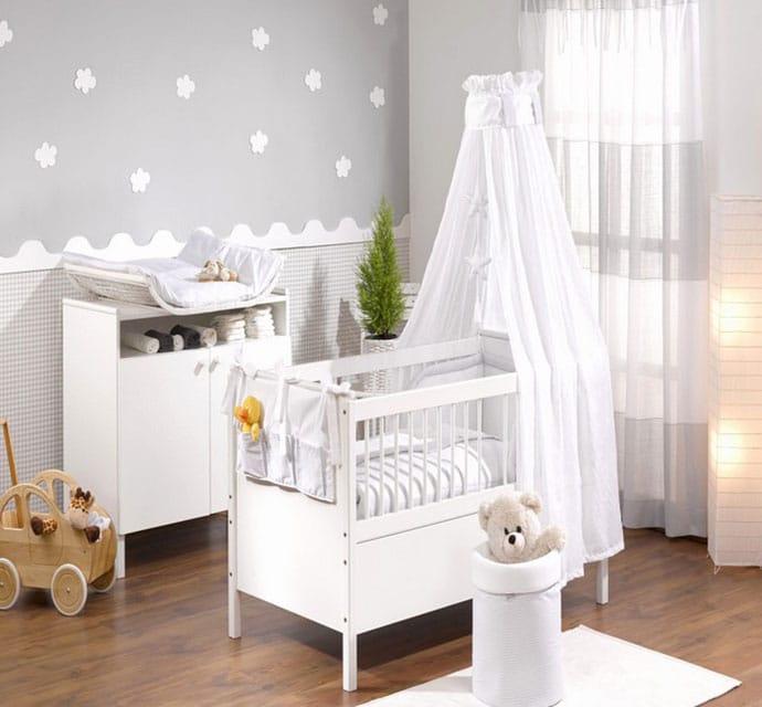 chambre mixte bébé couleur Gris Doux
