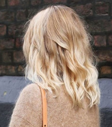 Ombré hair Blond Blanc