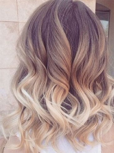Ombré Hair Blond Suédois