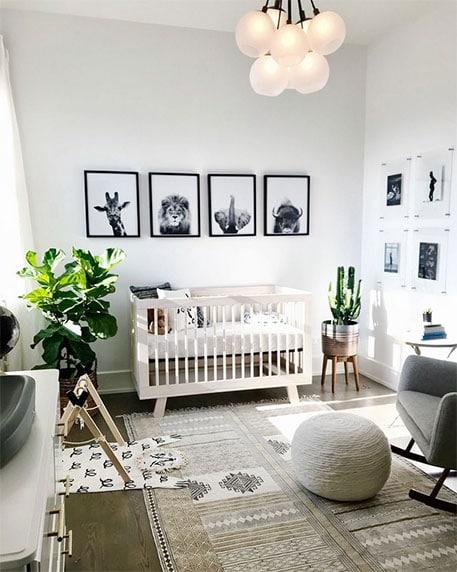 Tableaux chambre mixte bébé
