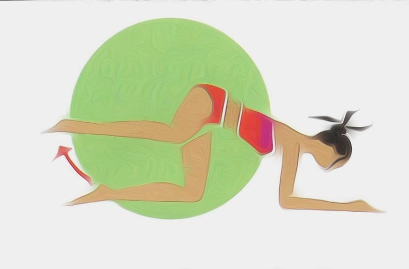 exercice de gym sur les avant bas en battement lateraux