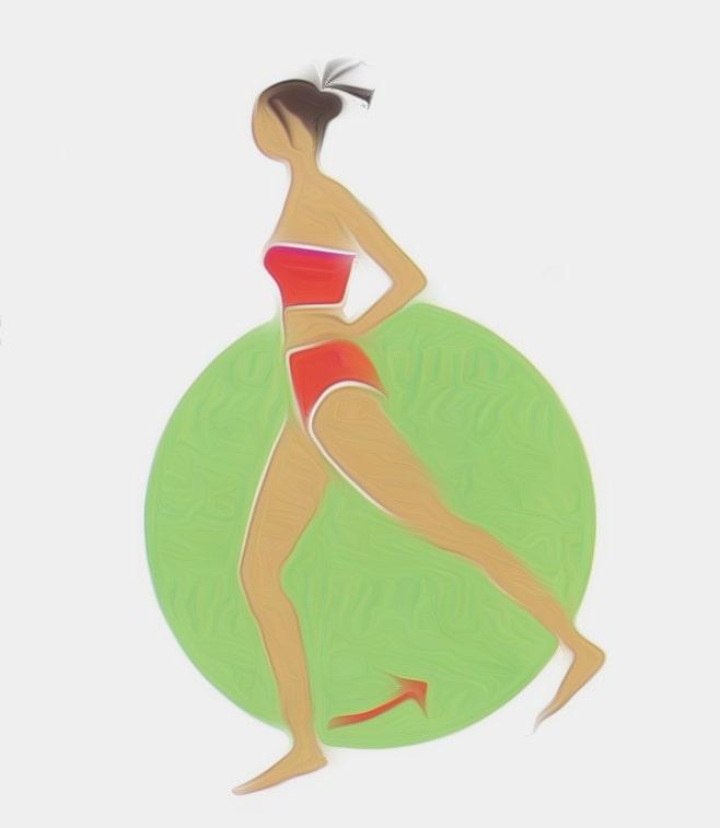 exercice de gym debout en battement arrière