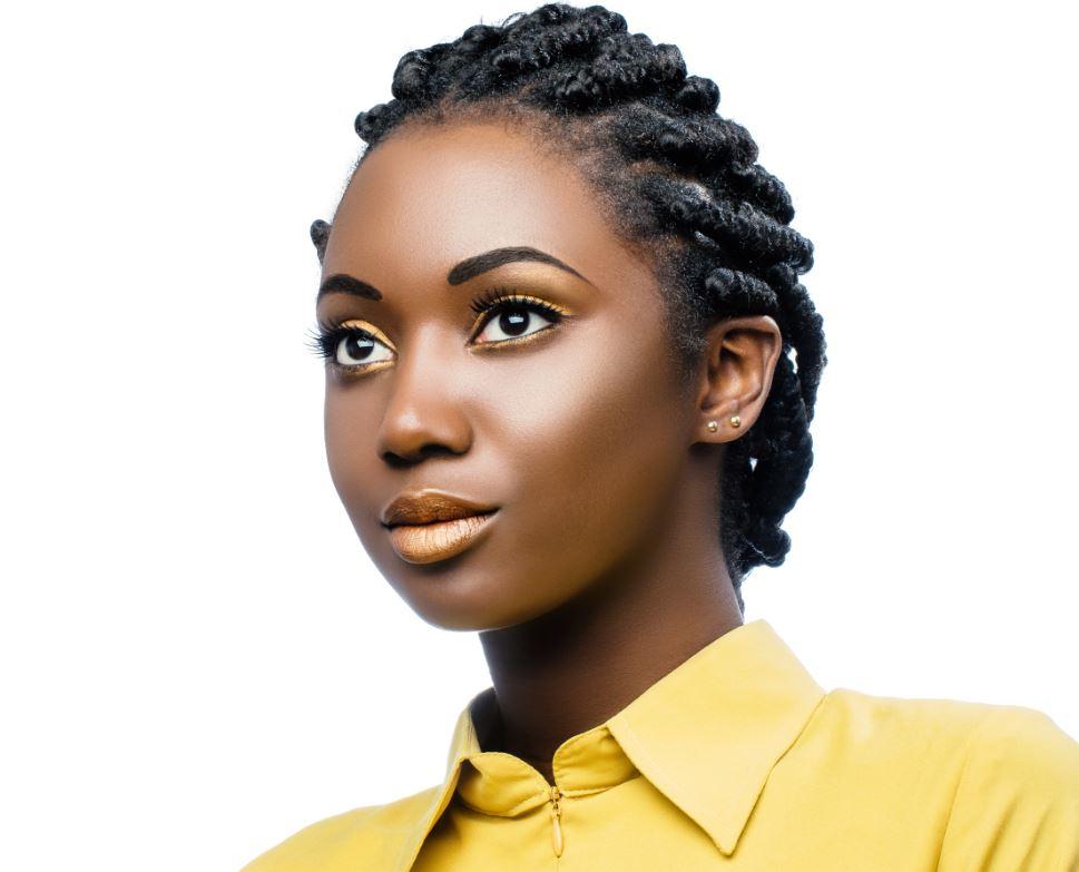 Chignon Afro Tressée