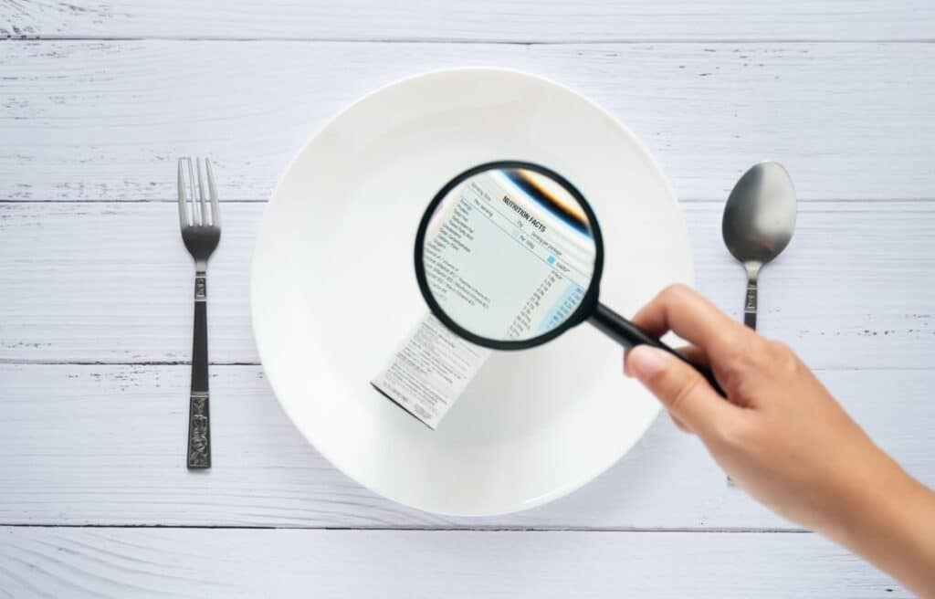 Alimentation Déchiffrer étiquettes