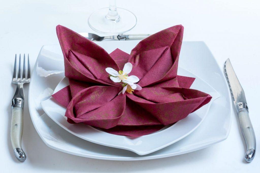 Pliage Serviette Fleur De Lotus